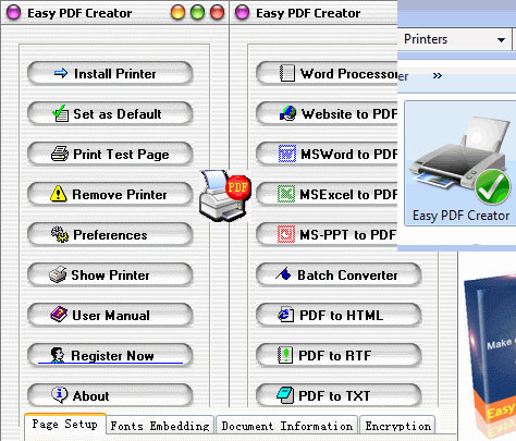Click to view Easy PDF Creator screenshots